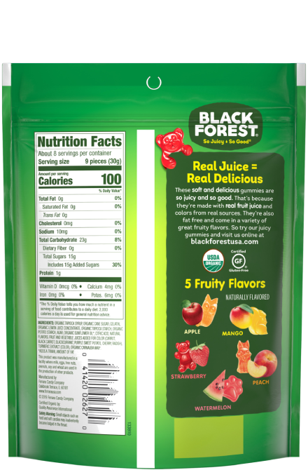 Black Forest Organic Gummy Forest Critters back