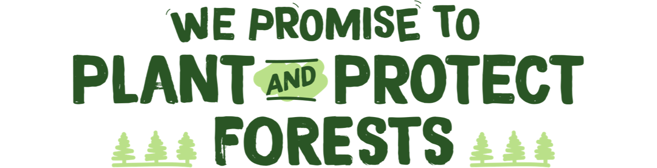 We promise to plant and protect forests.